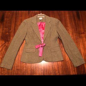 Lily Pulitzer Olive Green & pink blazer